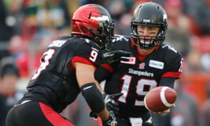 Calgary quarterback Bo Levi Mitchell and running back Jon Cornish are at the core of the Stampeders offense.