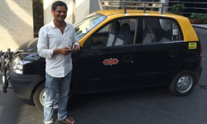 Wasim with his taxi.