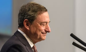 The President of the European Central Bank, Mario Draghi.