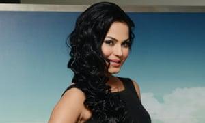 Veena Malik promotes the movie Zindagi 50 50 in Noida on Wednesday.