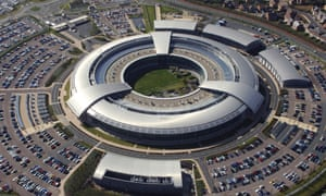An aerial view of the Government Communications Headquarters (GCHQ) in Cheltenham, Gloucestershire