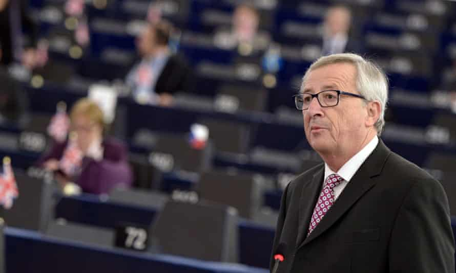 "EU Commission chief Jean-Claude Juncker speaks to unveil an eagerly awaited 315-billion-euro investment plan to ""kickstart"" the economy,"