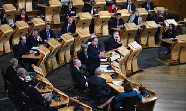 Scottish parliament at Holyrood in Edinburgh