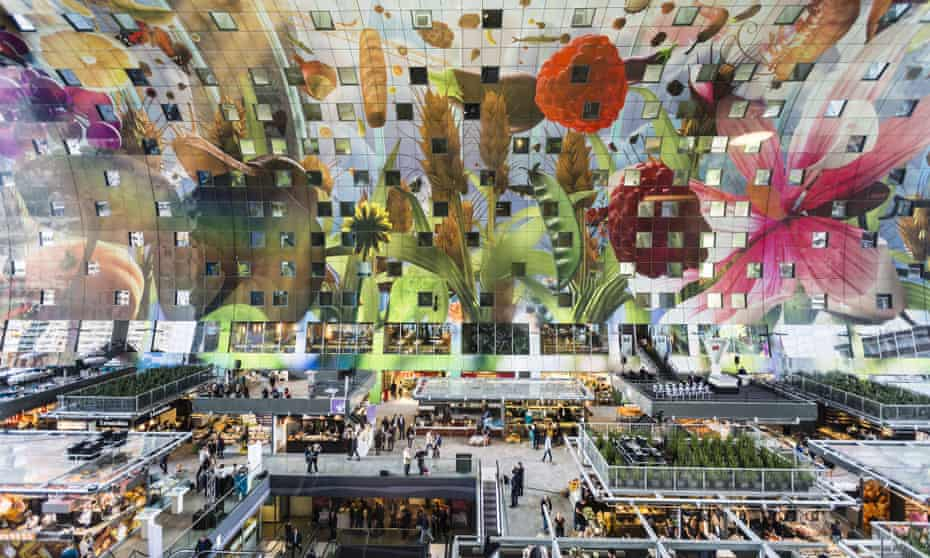 Not your average market … Rotterdam's new Markthal. Photograph Michael Porro/Getty Images