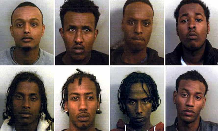 headshots of eight somali-origin men in the bristol sex ring case
