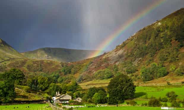 A rainbow in the Lake District