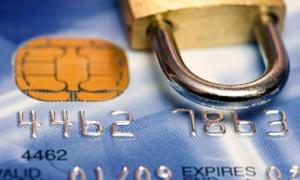 Credit card & padlock