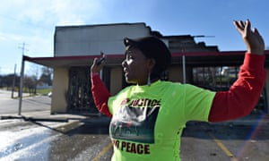 Burned-out store in Ferguson