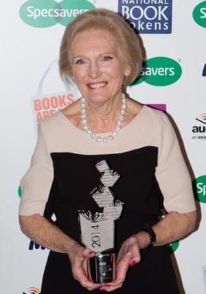 Mary Berry with award