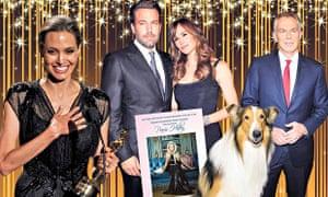 Angelina Jolie, Ben Affleck (with Jennifer Garner), Paris Hilton, Lassie and Tony Blair