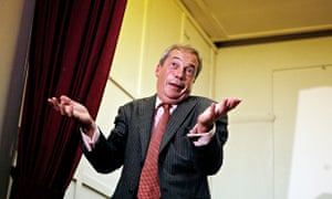 Nigel Farage in Thanet, where Ukip is on 29%, trailing behind the Tories on 34%, with Labour on 26%