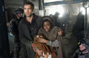 Clive Owen and Claire-Hope Ashity in Children of Men, the 2006 film adaptation of James' book