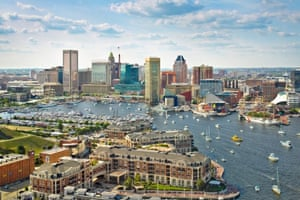 Baltimore skyline and inner harbour