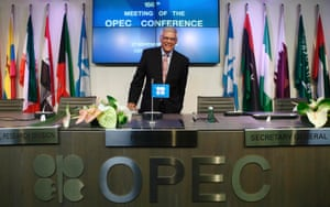 OPEC Secretary-General Abdullah al-Badri arrives for a news conference after a meeting of OPEC oil ministers at OPEC's headquarters in Vienna November 27, 2014.