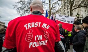 Demo againstr discrimination toward Poles in UK