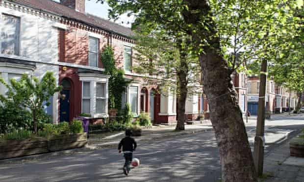 One of the streets in Toxteth revdeveloped by the Granby Four Streets community land trust.