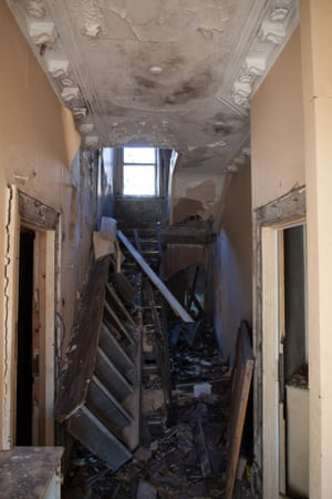 Inside one of the boarded-up houses in Toxteth
