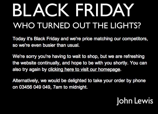 John Lewis - Black Friday