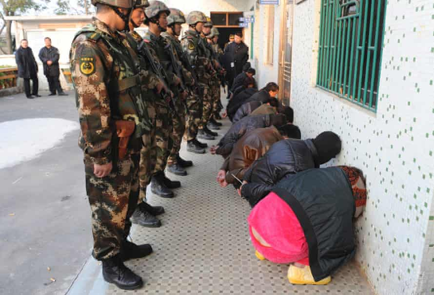 China has recently arrested 24,000 people suspected of drug offences