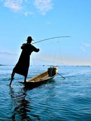 Fisherman on Inle Lake, Burma