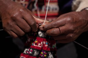 Knitting, Island of Taquile, Lake Titicaca
