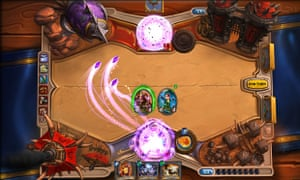 A game of Hearthstone in action.