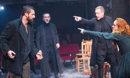 Richard Armitage, Adrian Schiller, Jack Ellis and Natalie Gavin in The Crucible.