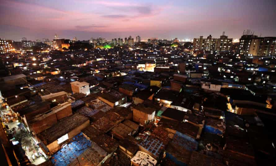 Dharavi at twilight.