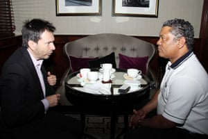 Simon Anholt with Given Lubinda, the former foreign minister of Zambia.