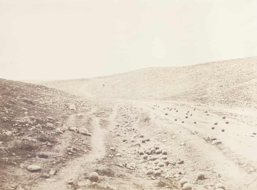 The Valley of the Shadow of Death, 1854 by Roger Fenton.