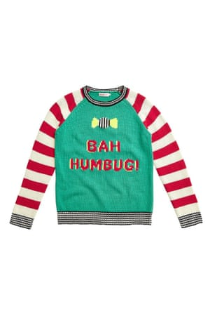 bah humbug jumper red white green grey