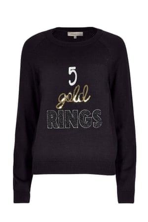 gold rings jumper gold black