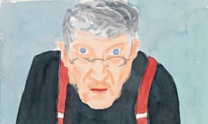 Details from David Hockney's Self Portrait with Red Braces, 2003