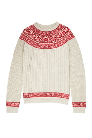 classic Fairisle jumper red white