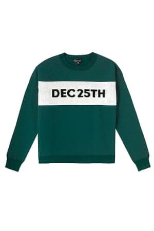 Dec 25th jumper green white black