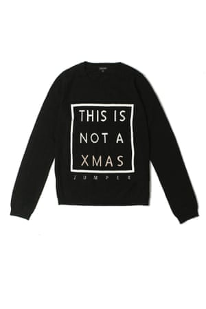 This Is Not A Xmas Jumper black white