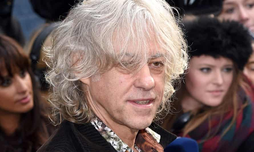 Bob Geldof, who appeared as one of Andrew Mitchell's character witnesses at the trial.