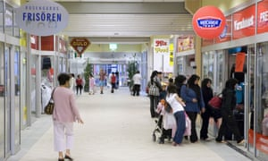 The Rosengard shopping centre in Malmö, southern Sweden, where immigration is a thorny issue.