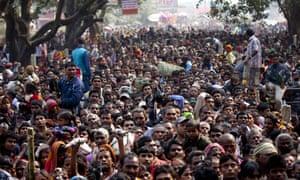 Huge crowd of Hindu devotees at Gadhimai festival in Bariyarpur, Nepal.