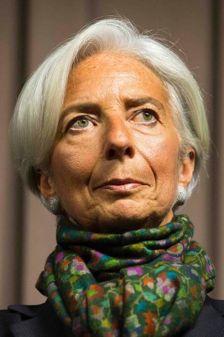 International Monetary Fund Managing Director Christine Lagarde.