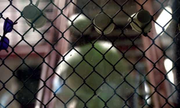 A detainee at Guantanamo Bay.