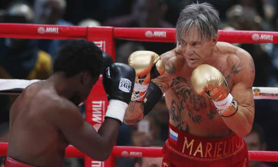 US actor and boxer Mickey Rourke