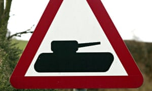 A sign at Catterick Garrison, near the A1 in North Yorkshire