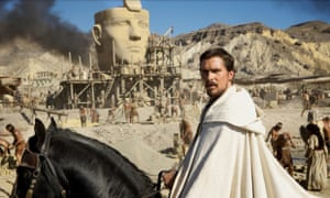 Christian Bale as Moses in Exodus: Gods and Kings.