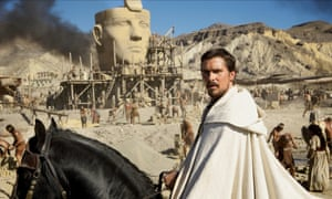 Christian Bale as Moses in Exodus: Gods and Men.