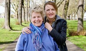Sandi Toksvig with her partner, Debbie