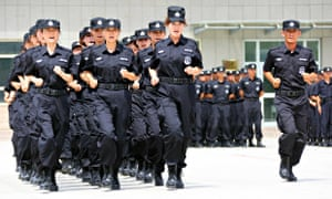Chinese SWAT team in training
