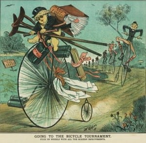 Going to the Bicycle Tournament from Punch in 1863