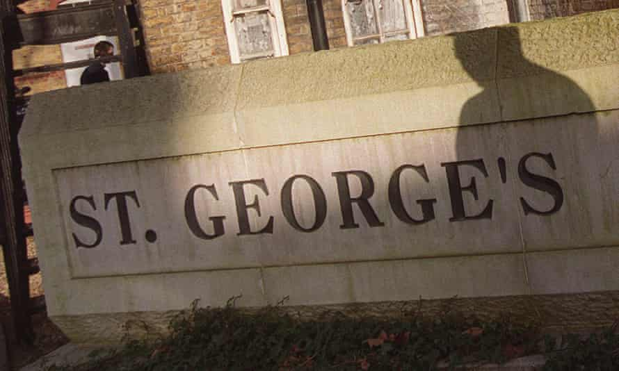 St George's hospital in Tooting, south London