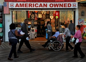 A variety shop on the Atlantic City boardwalk.